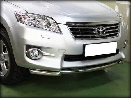 Toyota Rav-4 2010-2012г.в.-Дуга передняя по низу бампера d-53
